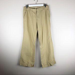 J Crew City Fit Linen Blend Beige Pants Wide Leg